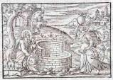 Ambito tedesco seconda metà sec. XVI, Gesù Cristo e la samaritana