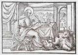 Ambito tedesco seconda metà sec. XVI, Silografia San Luca Evangelista