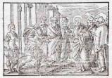 Ambito tedesco seconda metà sec. XVI, Silografia Gesù Cristo guarisce il servo