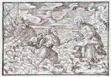 Ambito tedesco seconda metà sec. XVI, Gesù Cristo cammina sulle acque