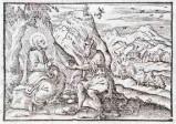 Ambito tedesco seconda metà sec. XVI, Gesù Cristo tentato da Satana