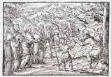 Ambito tedesco seconda metà sec. XVI, Gesù Cristo guarisce il cieco di Gerico