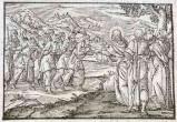 Ambito tedesco seconda metà sec. XVI, Gesù Cristo guarisce i dieci lebbrosi