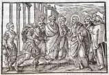 Ambito tedesco seconda metà sec. XVI, Gesù Cristo guarisce il servo