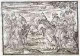 Ambito tedesco seconda metà sec. XVI, Gesù Cristo consegna le chiavi