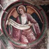 Borlone G. sec. XV, Angelo con cartiglio 1/4