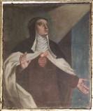 Ambito lombardo sec. XVIII, Santa carmelitana con cuore
