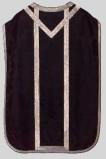 Manifattura italiana sec. XIX, Pianeta nera in damasco