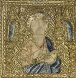 Manifattura veneziana sec. XV, Santo apostolo leggente