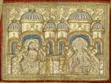 Manifattura veneziana sec. XV, San Giacomo e San Giuseppe