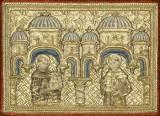 Manifattura veneziana sec. XV, San Domenico e San Francesco