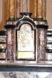Ambito lombardo sec. XVIII, Tabernacolo dell'altare maggiore in marmi policromi