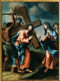 Ambito pesarese sec. XVII, Gesù incontra la Madonna