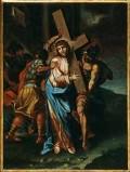 Ambito pesarese sec. XVII, Gesù caricato della croce