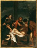 Ambito pesarese sec. XVII, Gesù deposto dalla croce