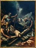Ambito pesarese sec. XVII, Gesù inchiodato alla croce