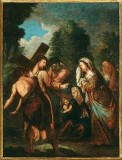Ambito pesarese sec. XVII, Gesù consola le donne di Gerusalemme
