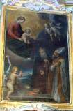 Caccia G. sec. XVII, Madonna con Gesù Bambino tra San Giovannino e santi