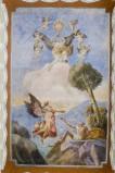 Melle G. (1955), Dipinto murale di Elia e l'angelo