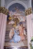 Melle G. sec. XX, Dipinto murale di San Domenico Savio in estasi