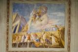 Melle G. (1949), Dipinto murale dell'Ascensione di Gesù
