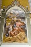 Melle G. sec. XX, Dipinto murale di San Marco Evangelista