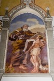 Melle G. sec. XX, Dipinto murale di San Matteo Evangelista