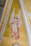 Melle G. sec. XX, Dipinto murale di angelo con croce