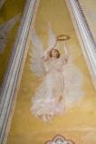 Melle G. sec. XX, Dipinto murale di angelo con corona di spine