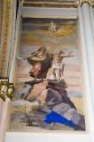 Melle G. sec. XX, Dipinto murale del sacrificio di Isacco