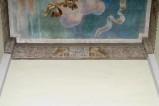 Melle G. (1955), Dipinto murale di leoni e iscrizione