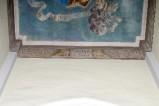 Melle G. (1955), Dipinto murale con iscrizione e leoni