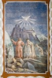 Melle G. (1955), Dipinto murale di Gesù Cristo con sacerdote e colomba
