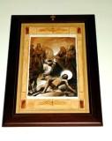 Afrune G. sec. XXI, Cornice di Gesù Cristo inchiodato alla croce