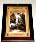 Afrune G. sec. XXI, Cornice di Gesù Cristo incontra la Madonna e le pie donne
