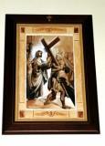 Afrune G. sec. XXI, Cornice di Gesù Cristo caricato della croce