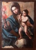 Ambito salentino sec. XVIII, Dipinto della Madonna del fulmine