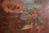 Ambito salentino sec. XVIII, Dipinto di Dio Padre appare a Mosè