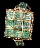 Bottega siciliana sec. XVIII, Ex voto ad anello di smeraldi