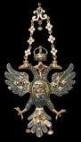 Bottega siciliana inizio sec. XVII, Ex voto a pendente con aquila bicipite