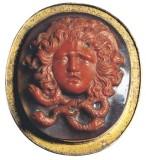 Bottega siciliana fine sec. XVIII, Ex voto a medaglione con testa di Gorgone