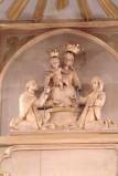 Bottega siciliana secc. XIX-XX, Altorilievo con la Madonna del rosario e Santi