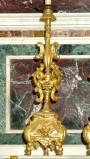 Bottega siciliana sec. XX, Candeliere d'altare con intagli floreali 2/17