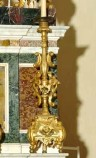 Bottega siciliana sec. XX, Candeliere d'altare con intagli floreali 12/17