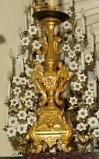 Bottega siciliana sec. XX, Candeliere d'altare con intagli floreali 14/17