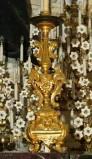 Bottega siciliana sec. XX, Candeliere d'altare con intagli floreali 17/17