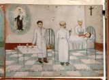 Bottega siciliana sec. XX, Dipinto ex voto con Guarigione miracolosa 5/5