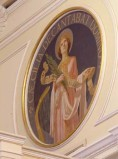 Bottega siciliana sec. XX, Affresco di S. Cecilia patrona della musica