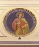 Bottega siciliana sec. XX, Affresco con S. Pietro