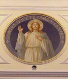 Bottega siciliana sec. XX, Affresco di Gesù benedicente